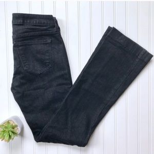 •Cache• indigo wash boot cut jeans